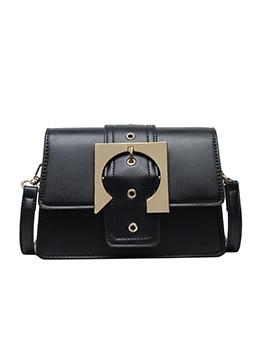 Detachable Belt Metal Buckle Women Shoulder Bags