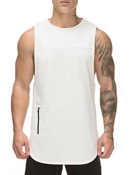 Summer Solid Training Loose Mens Vest