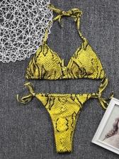 Hot Sale Tie Wrap Animal Print Bikini Set For Women