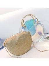 Laser Transparent PVC Glitter 2 Piece Crossbody Bags