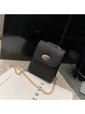Simple Design Twist Lock Chain Crossbody Phone Bags