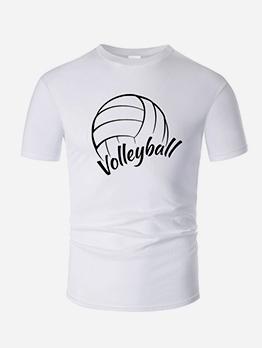 Volleyball Printed Short Sleeve Tee Shirts