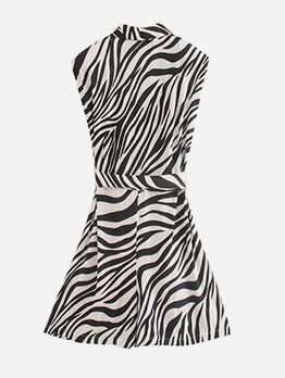 Euro Animal Printed Sleeveless Summer Dresses