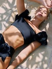 Square Neck Puff Sleeve Women Swimwear