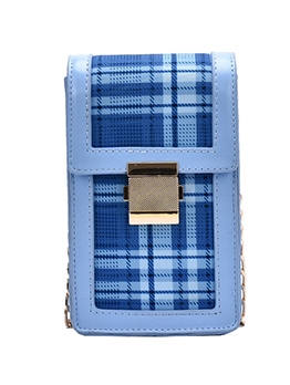 Classic Plaid Chain Small Crossbody Phone Bags
