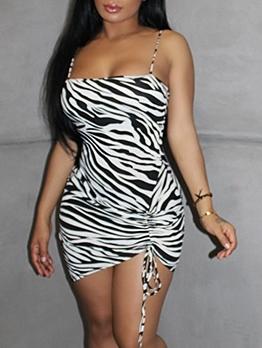 Sexy Animal Print Short Sleeveless Dress