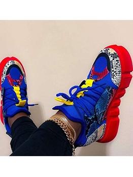 Euro Snake Skin Printed Sneakers For Women
