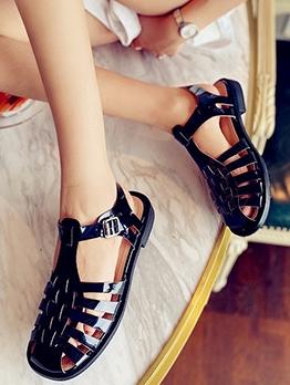Roman Style Hollow Out Designer Sandals