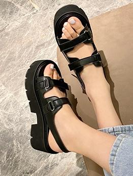 Chic Solid Women High Platform Sandals