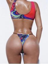 Spaghetti Strap Design Sexy One Piece Swim Wear