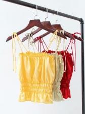 Summer Spaghetti Strap Solid Color Camisole
