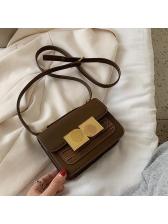 Metal Splicing Square Shoulder Bags For Women