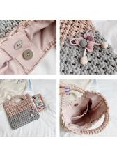 Cotton Rope Woven Contrast Color Ladies Handbags