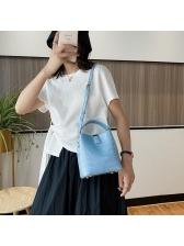 Grained Design Easy Matching Bucket Shoulder Bag
