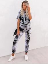 Summer Tie Dye Short Sleeve Loungewear