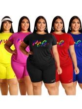 Colorful Letter Plus Size Ladies Tracksuits