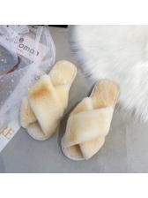 Anti Slip Faux Fur Fluffy Slippers
