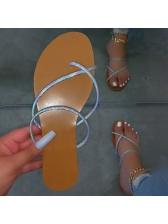 Simple Slip On Beach Open Toe Slippers