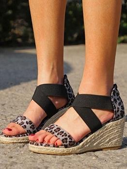 Animal Printed Women Sandal Platform Wedges