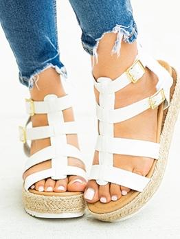 Euro Patchwork Flat Platform Sandals