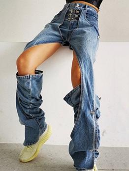Chic Design Detachable Boutique High Rise Jeans