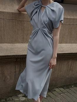 Chic Design Twist Boutique Short Sleeve Dress