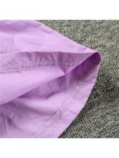 Casual V Neck Purple Sleeveless Girls Dress