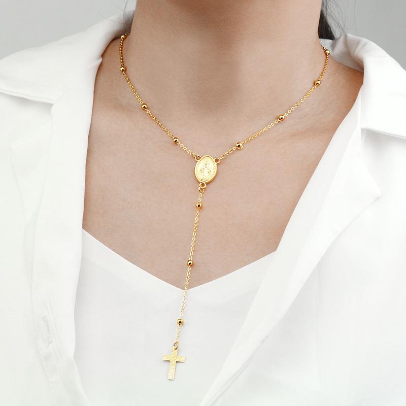 Popular Cross Pendant Simple Necklace For Women