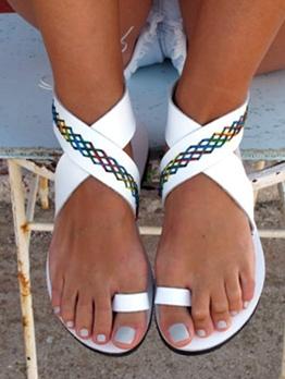 Euro Open Round Toe Flat Sandals