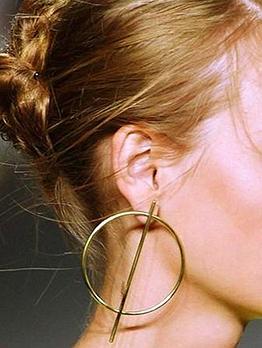 Minimalist Style Solid Color Party Big Hoop Earrings