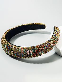 Multicolored Rhinestones Shiny Hair Band Accessories
