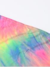 Sexy Strapless Tie Dye Two Piece Set