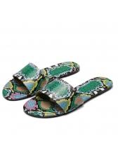 Snake Skin Printed Summer Slippers