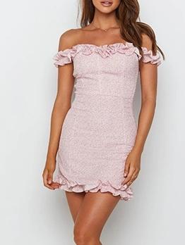 Sweet Printed Off Shoulder Summer Dresses