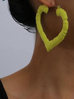 Creative Geometric Simplicity Design Heart-Shaped Earrings