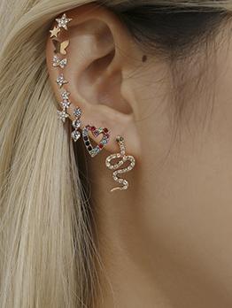 Trendy Mixed Multiple Shape Rhinestone Stud Earring Sets