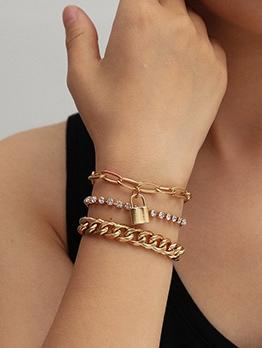 Personalized Hip Hop Fashion Rhinestone Chain Bracelet
