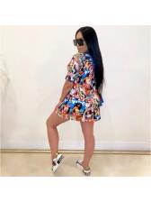 Chic Printed Short Sleeve T Shirt Dress