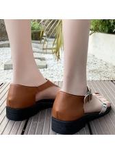 Versatile Patchwork Low Heel Comfortable Sandals