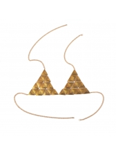 Retro Style Triangle Personality Clothing Bra Chain
