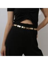 Fashion Easy Matching Metal Star Chain Belt