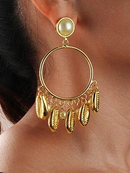 Bohemian Seashell Tassel Drop Earrings For Women