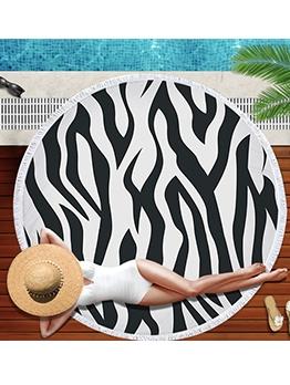Leopard Printed Round Beach Blanket