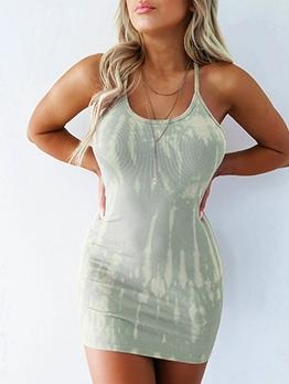 Backless Smart Waist Short Sleeveless Dress