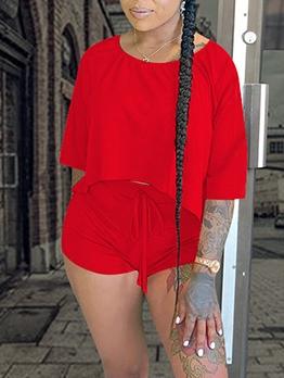 Breathable Plain Half Sleeve Womens Activewear