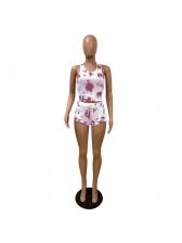 Tie Dye Sleeveless Tracksuit Shorts Set For Women