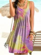 Summer Tie Dye Sleeveless Summer Dresses