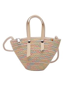 Solid Color Small Shape Beach Handbag For Women