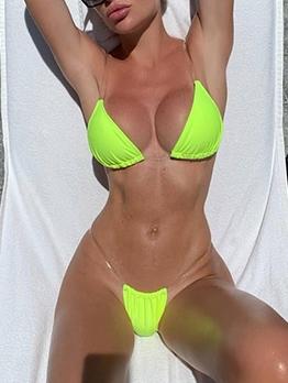 Sexy Stealth Transparent Solid Beach Bikini