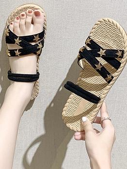 Chic Star Patchwork Beach Flat Sandals